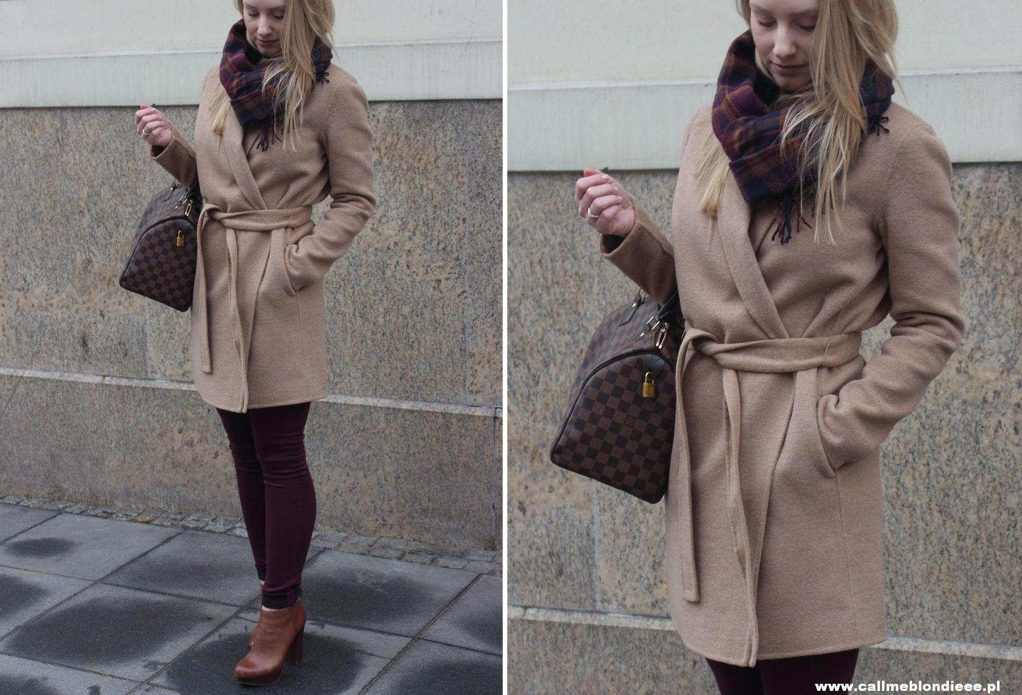 OOTD Camel Coat & Burgundy Jeans 4