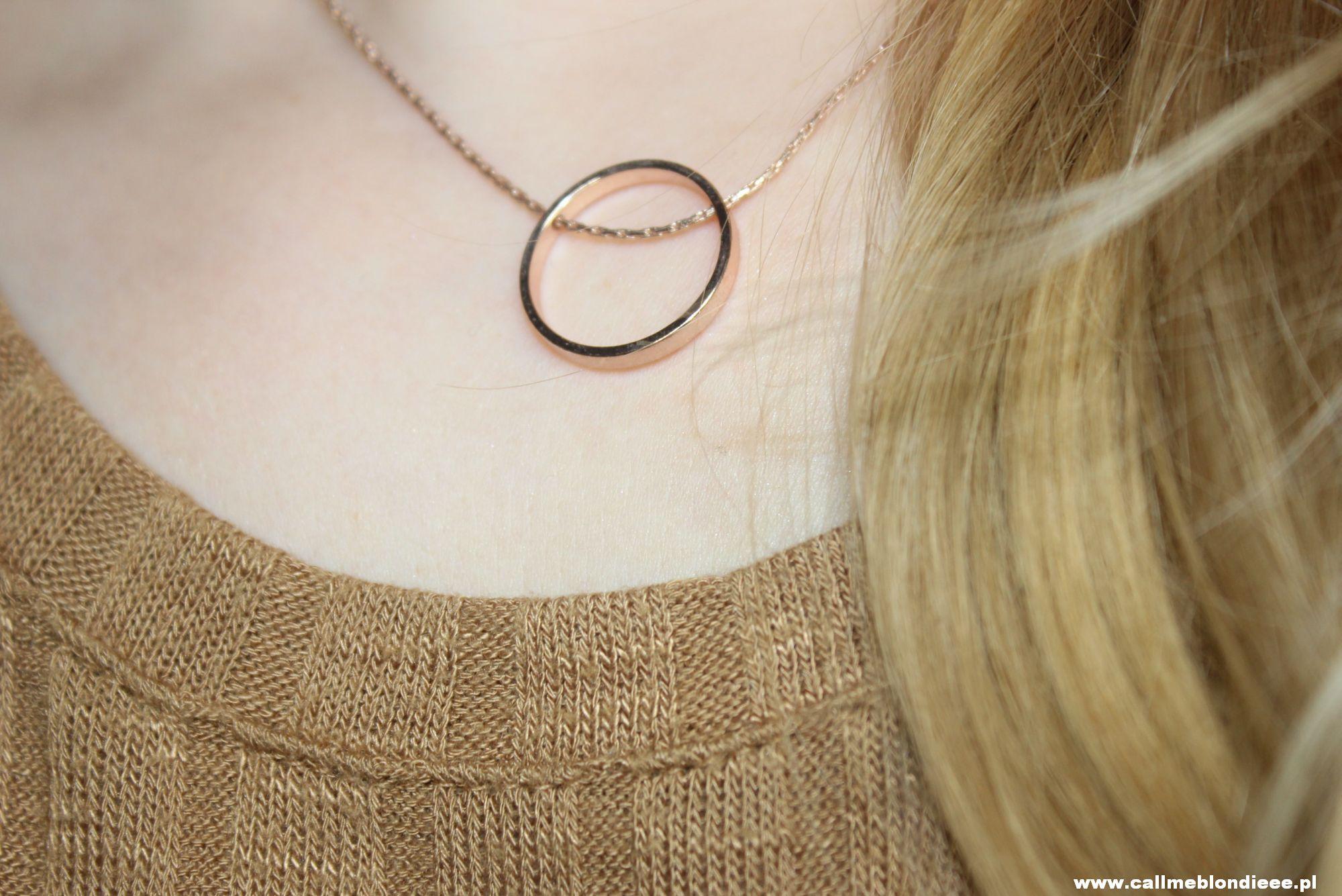 W klimacie Rose Gold - naszyjnik z H&M 2