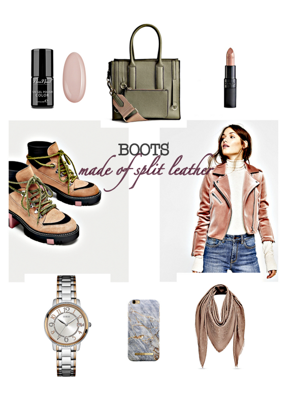 FALL TRENDS - BOOTS made of split leather