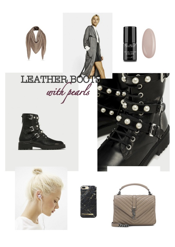 FALL TRENDS - LEATHER BOOTS with pearls