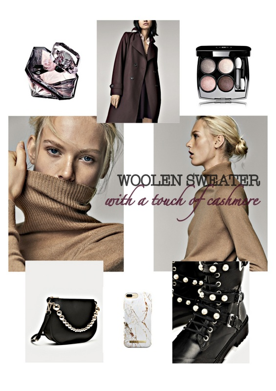 FALL TRENDS - WOOLEN SWEATER with a touch of cashmere