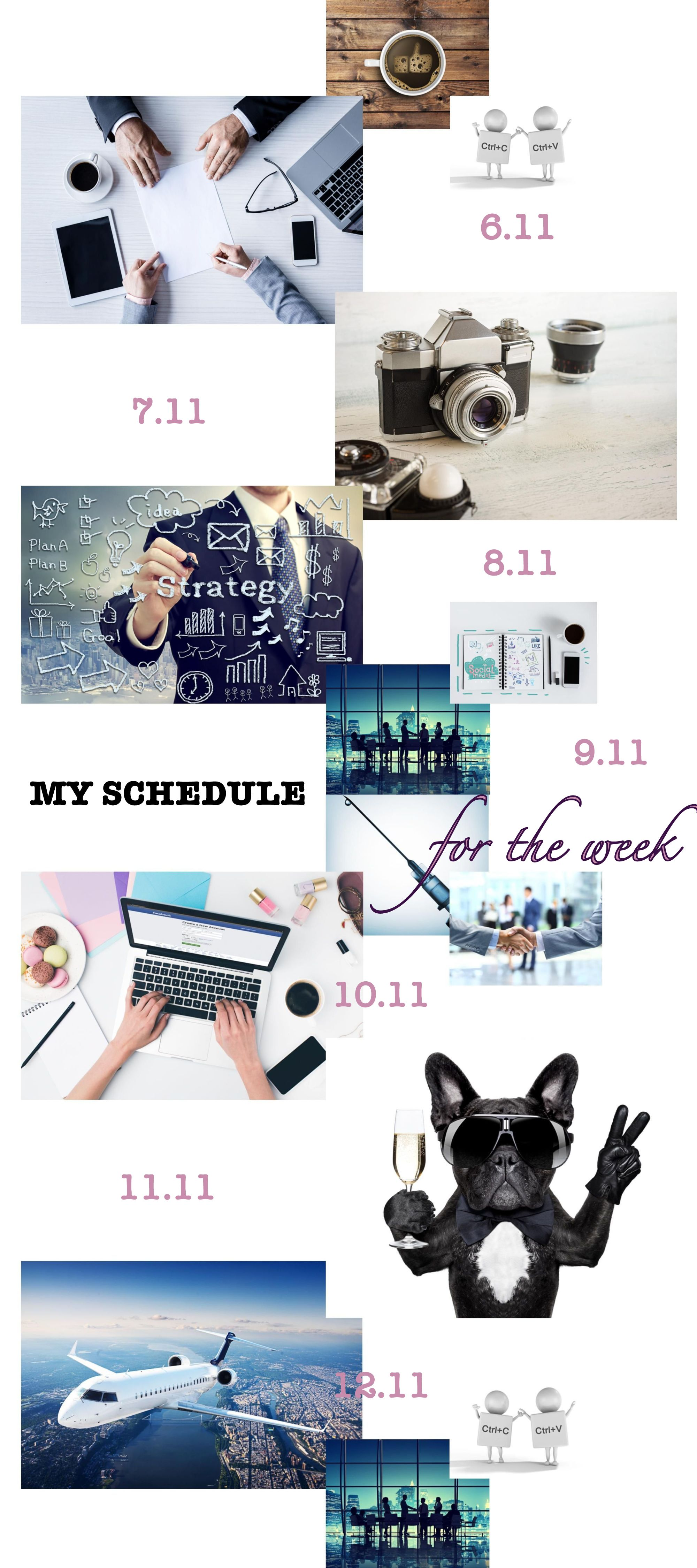 MY SCHEDULE for the WEEK_2