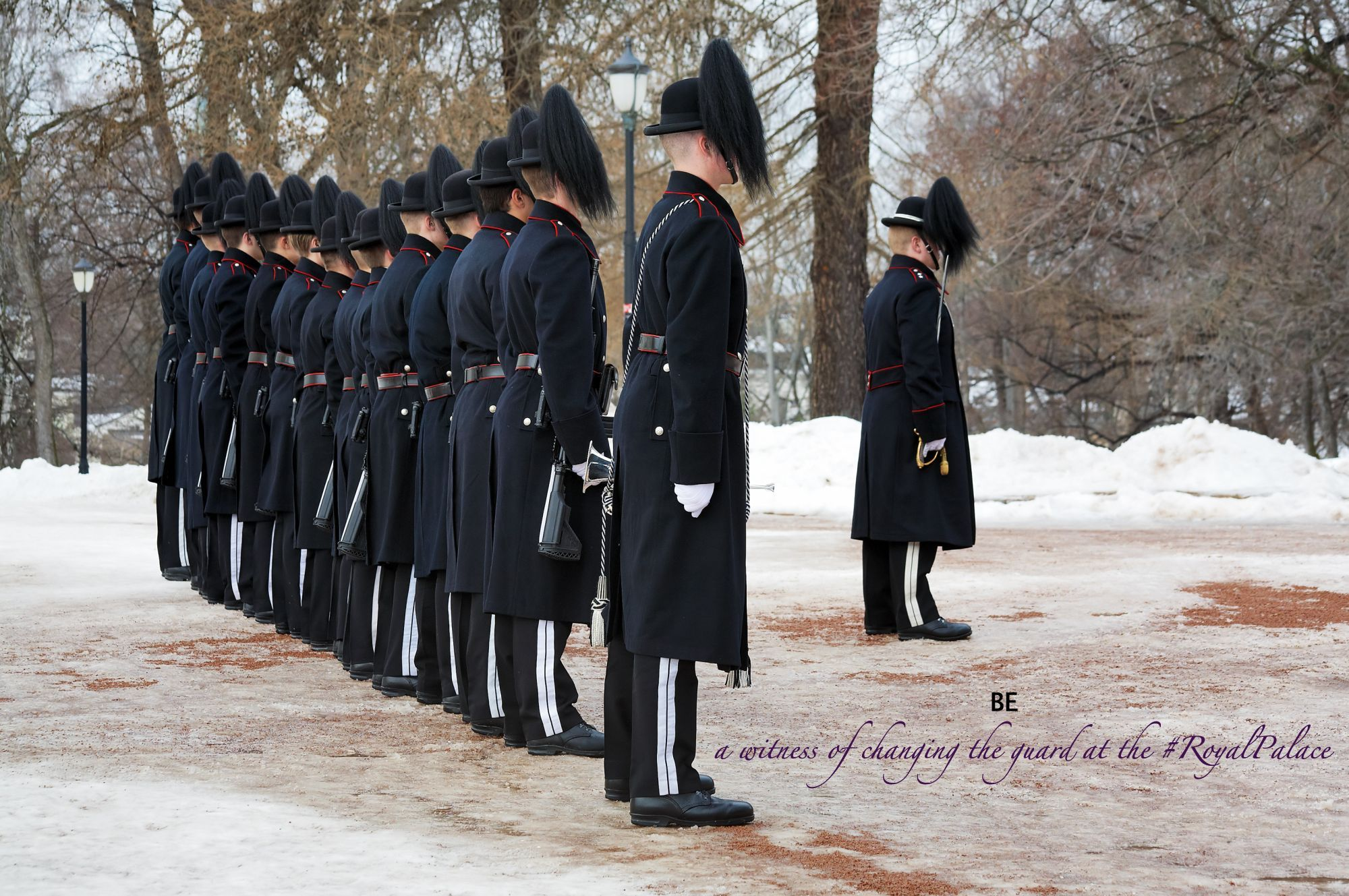 BE a witness of changing the guard at the #RoyalPalace