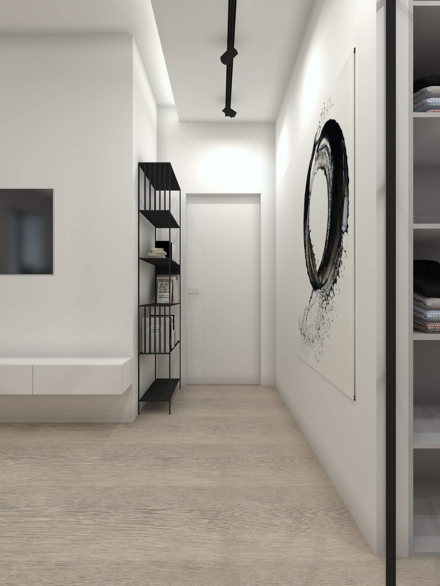 Sypialnia z garderobą w stylu industrialnym 102