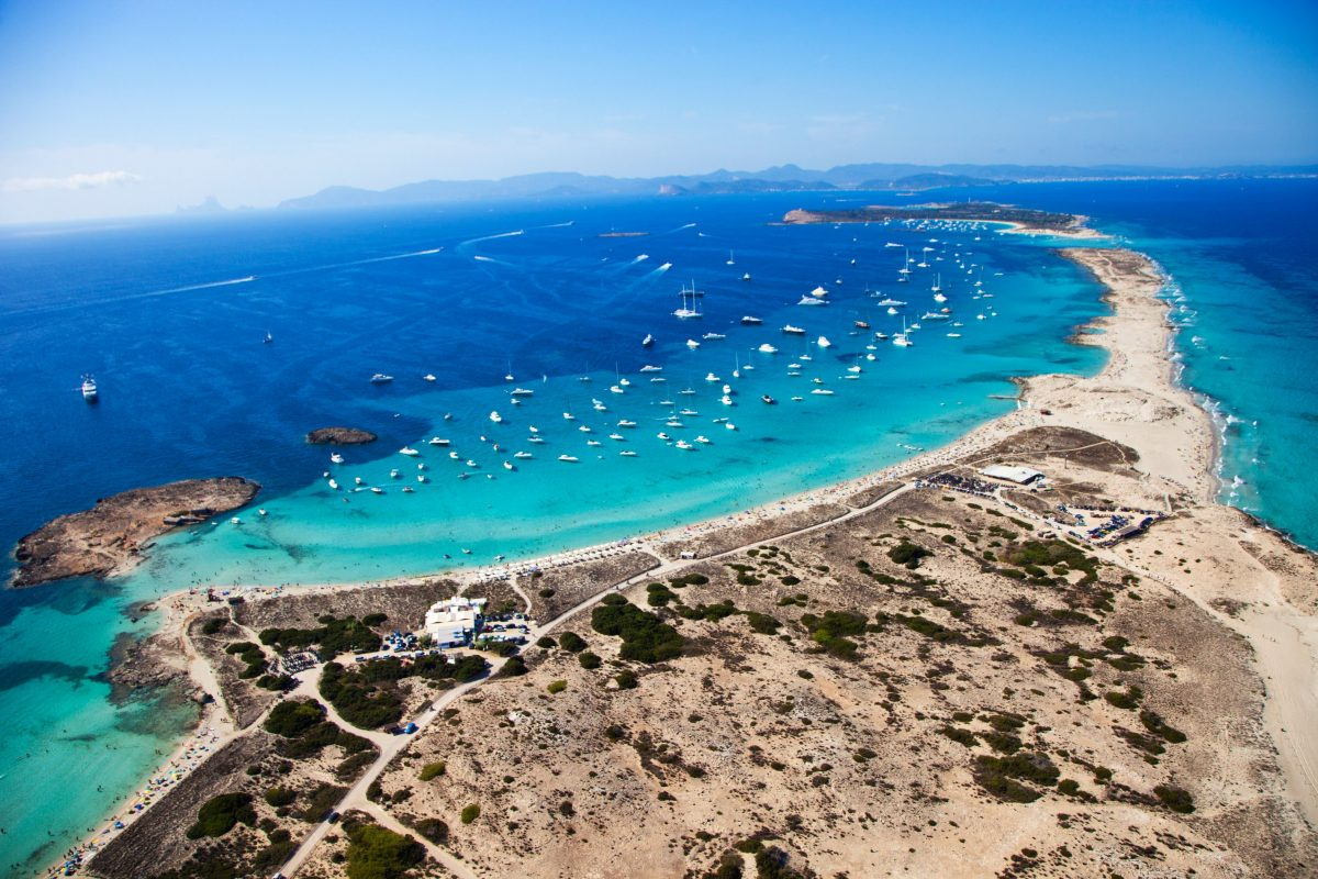 Ses Salines Natural Park. Ses Illetes Beach. Formentera Island. Balearic Islands. Spain.